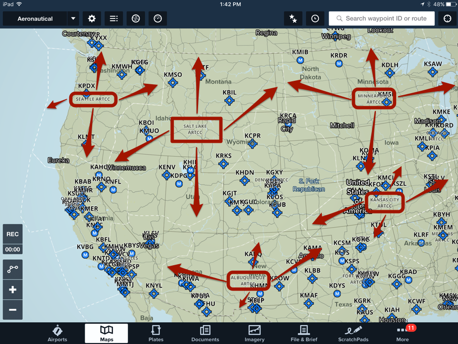 What Are The White Dashes Lines I See On The Map ForeFlight Support - Us artcc map